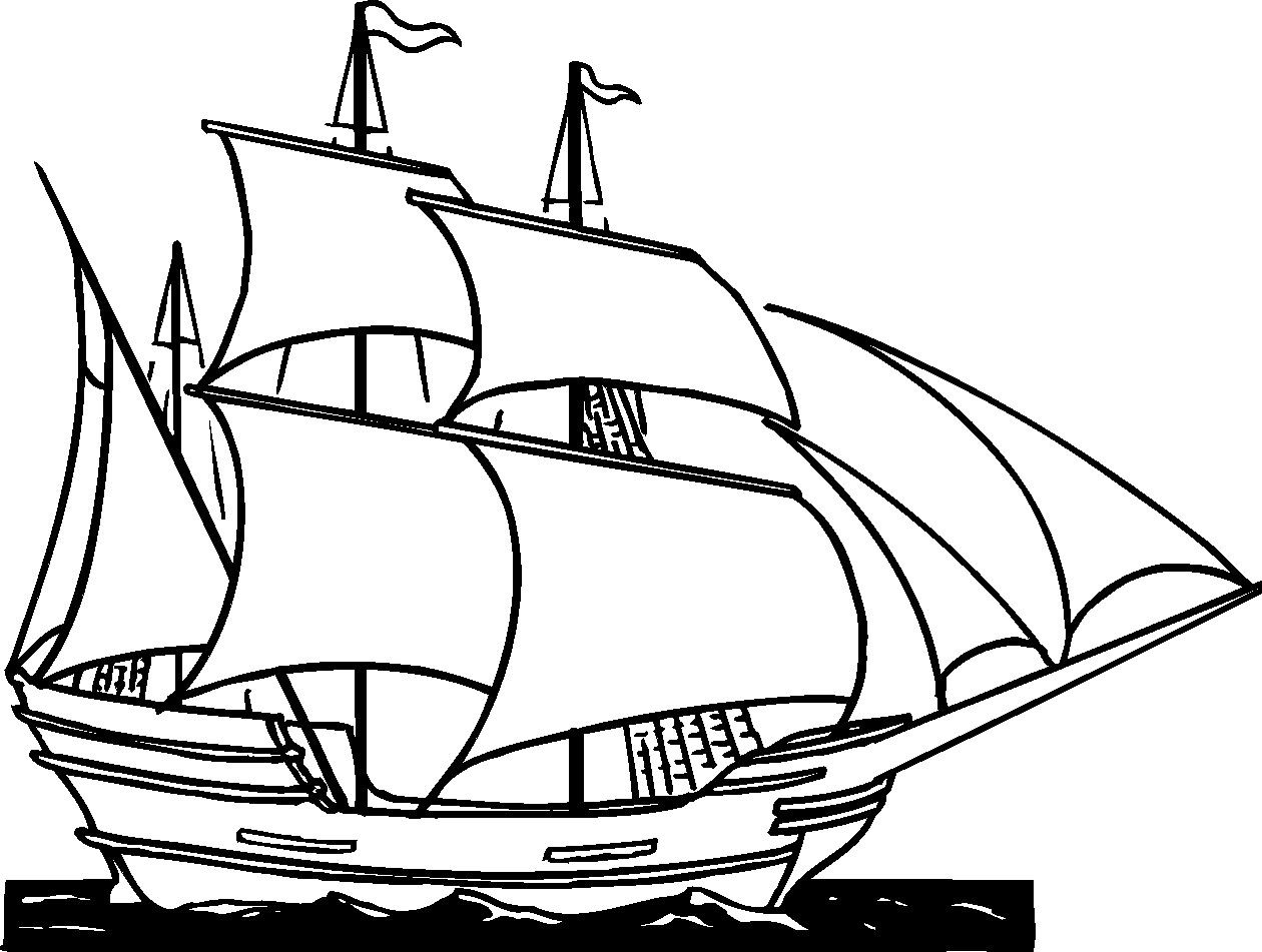 Clipper Ship Clip Art.