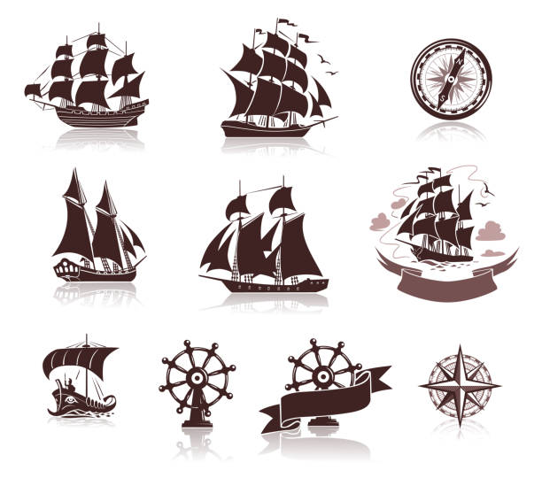 Best Tall Ship Illustrations, Royalty.