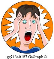 Shocked Face Expression Clip Art.