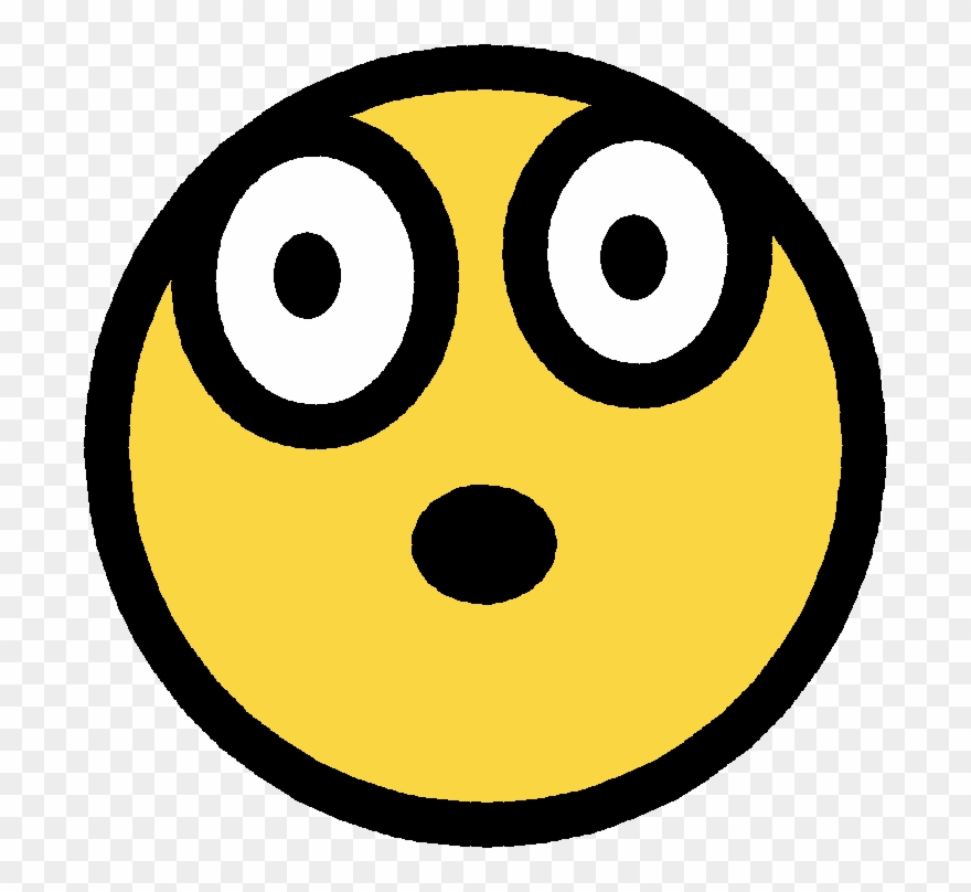 Free Shocked Smiley Face Clip Art.
