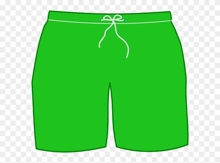 Green Swim Shorts Clip Art.