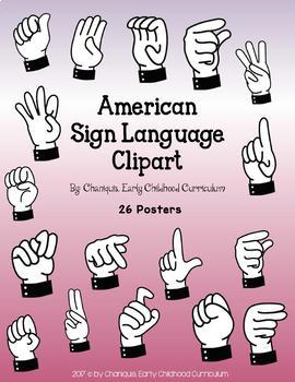 American Sign Language Clip Art (For personal and commercial use).