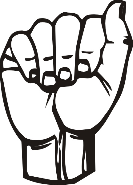 Sign Language A clip art Free vector in Open office drawing svg.