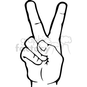 ASL sign language 2 clipart illustration . Royalty.