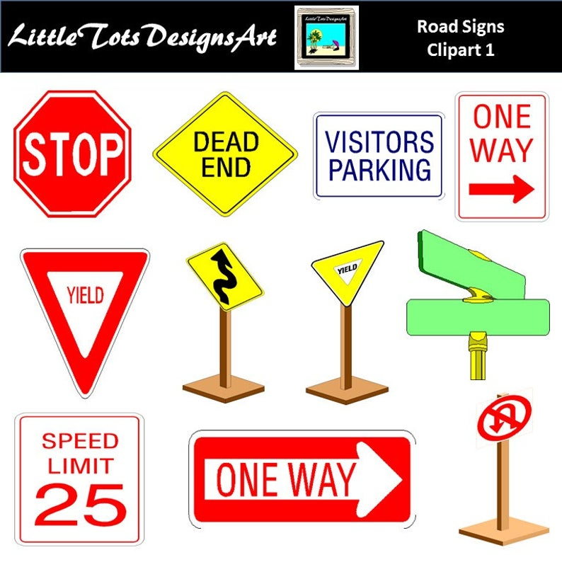 traffic signs clipart, traffic clip art, road signs clipart, signs clip  art, road signs, traffic signs, road clipart, Commercial Use.