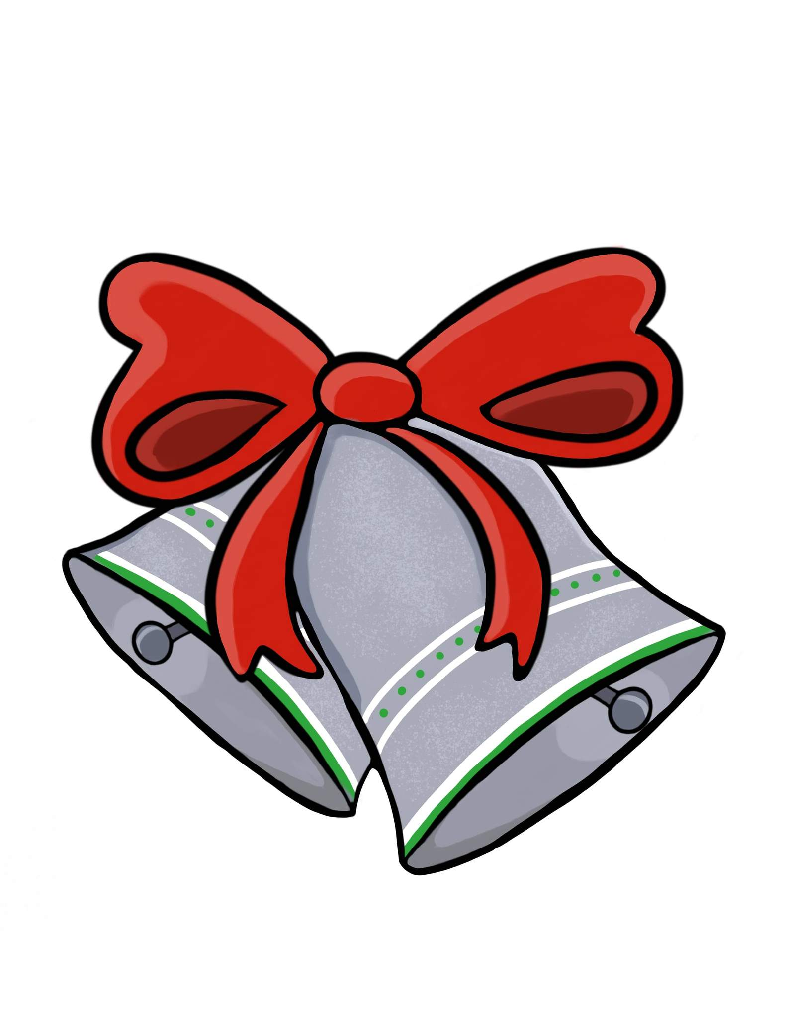 Silver Bells Christmas Clip Art.