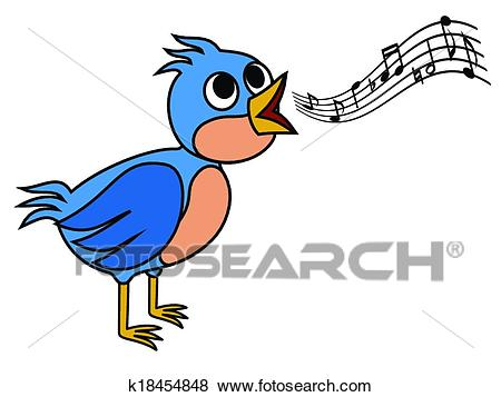 Singing bird Clip Art.