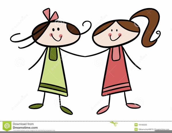 Two Sisters Clipart Free Images At Clker Com Vector Clip Art.
