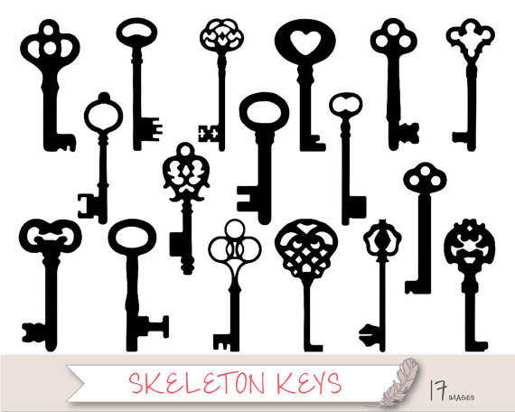 104+ Skeleton Key Clipart.