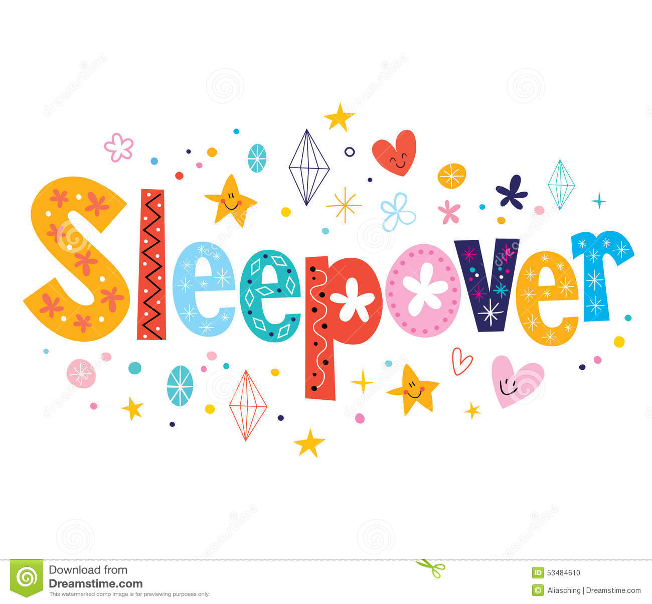 Sleepover Stock Illustrations.