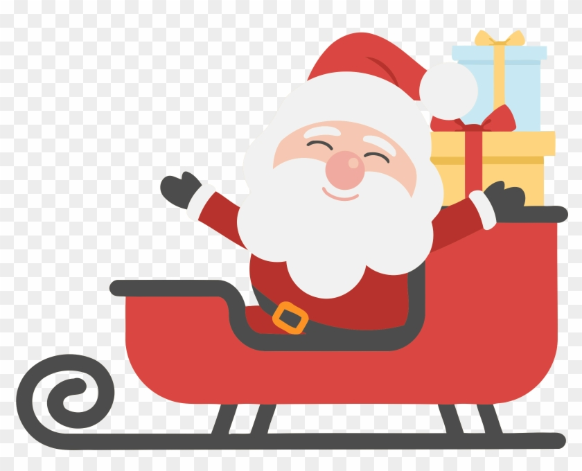 Sleigh Clipart Big Santa.