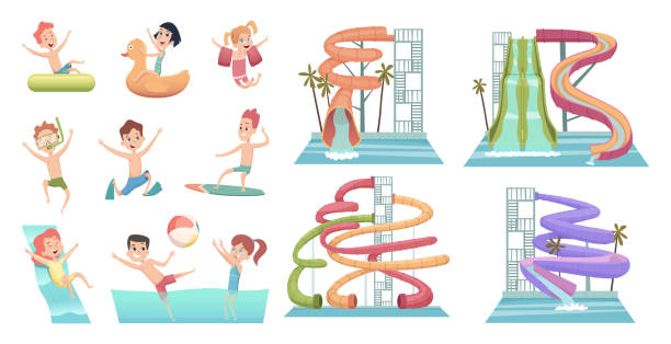 Best Slip And Slide Illustrations, Royalty.