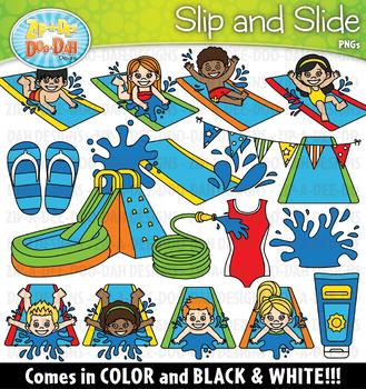Slip and Slide Clipart Set {Zip.