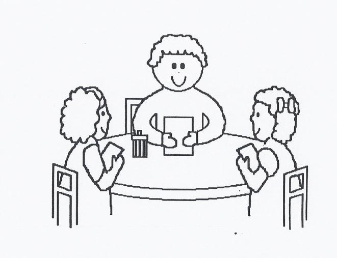 Teacher small group table clipart.