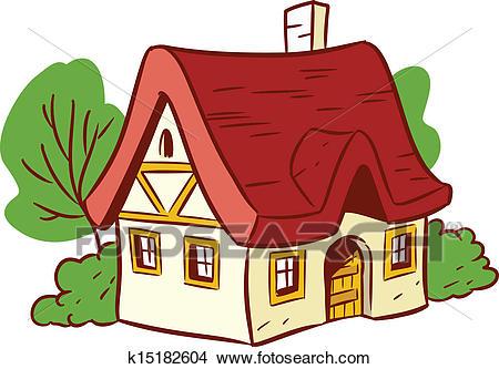 Small cartoon house Clipart.