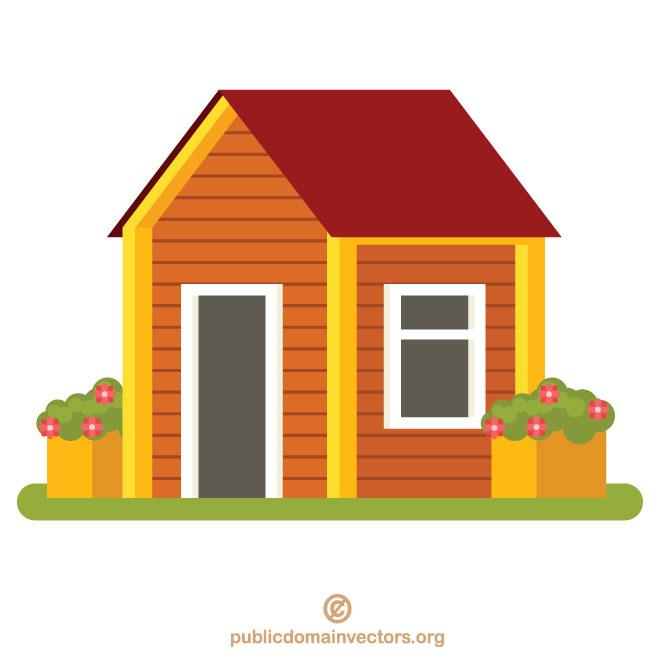 Small house vector clip art.