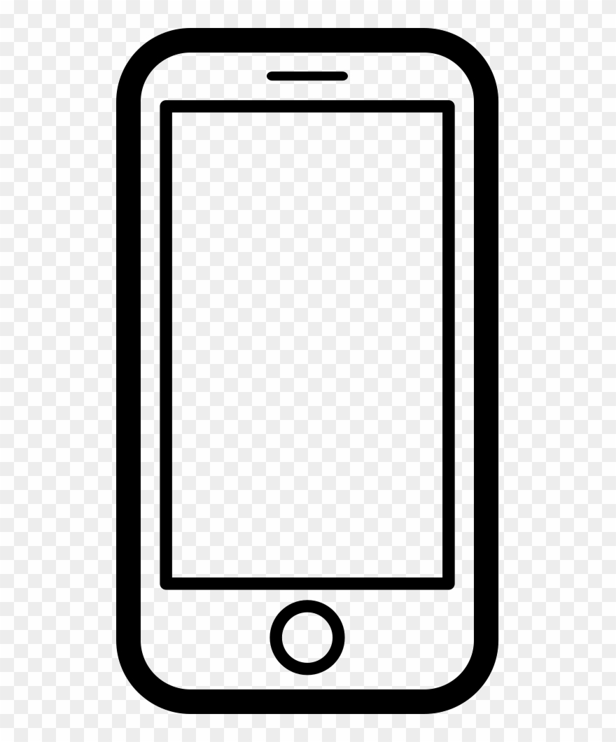 Graphic Download Black And White Smartphone Clipart.