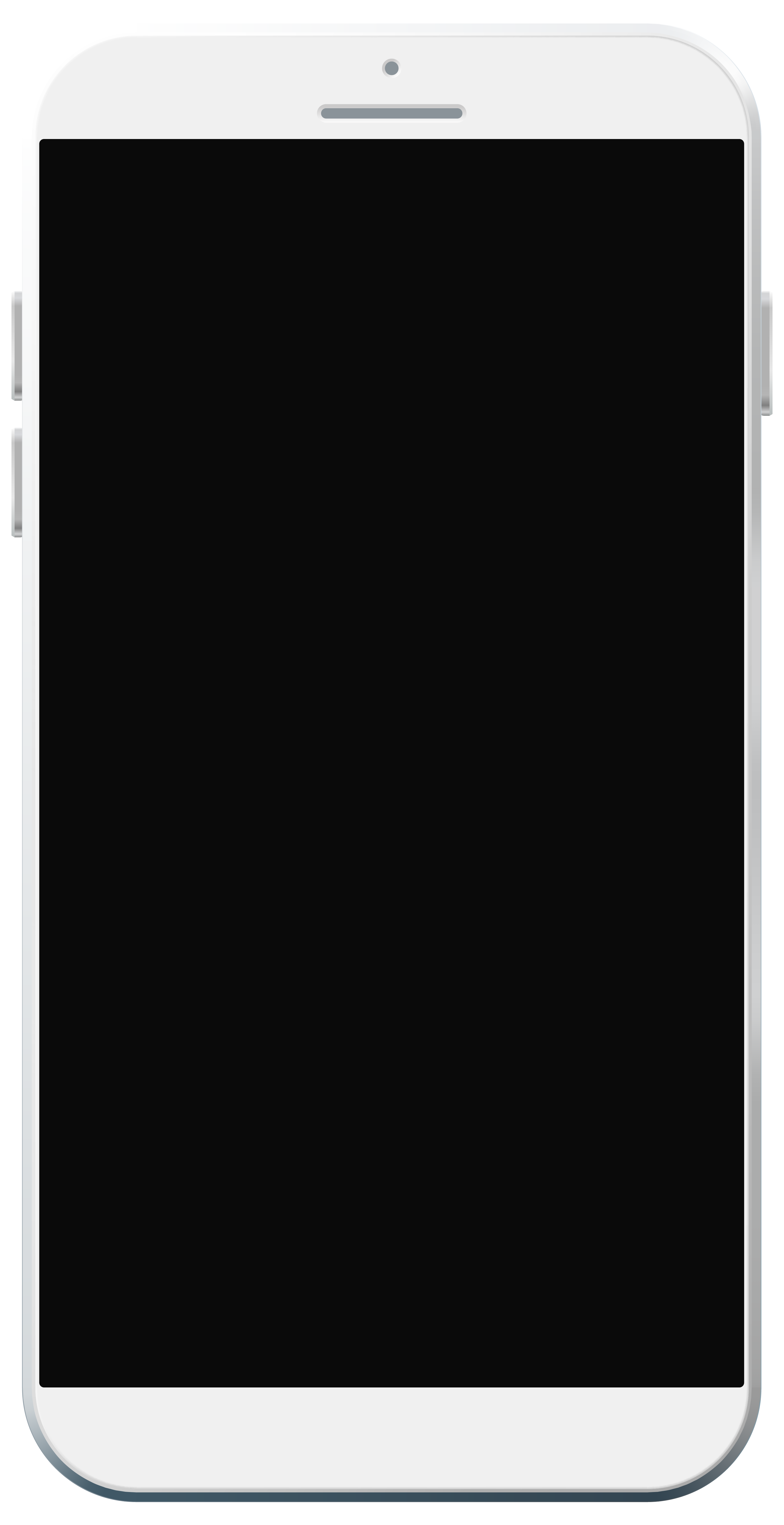 White Smartphone PNG Clipart.
