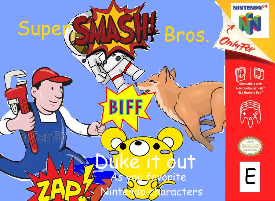 Super Smash Bros. clipart cover.