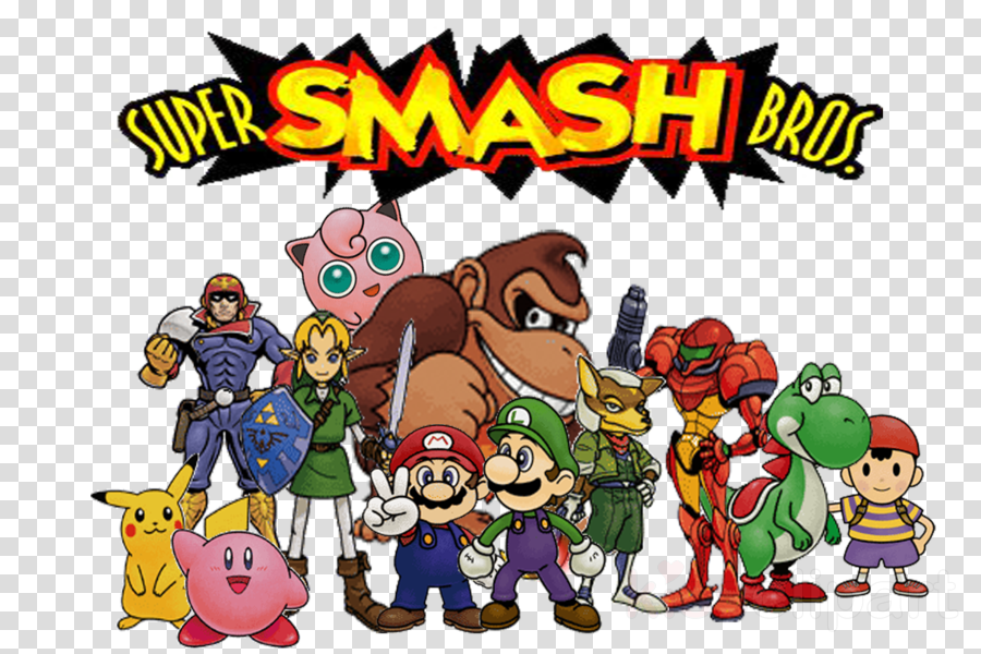 Smash Bros 64 Artwork Clipart Super Smash Bros , Png.