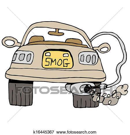 Car Smog Check Clip Art.