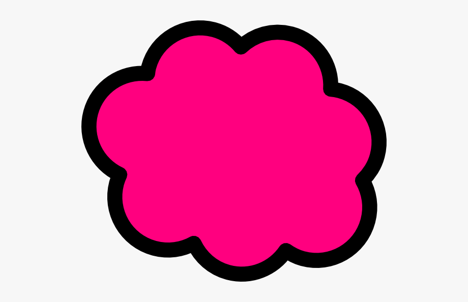 Pink Cloud Clip Art.
