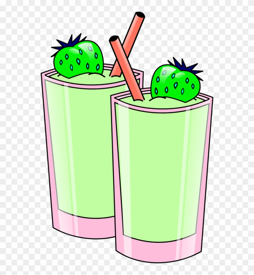 Strawberry Smoothie Vector Clip Art Library Png.