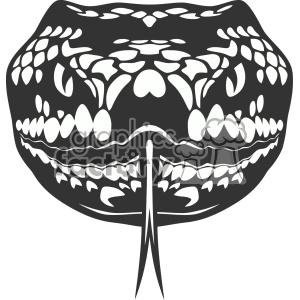 snake head vector art clipart. Royalty.