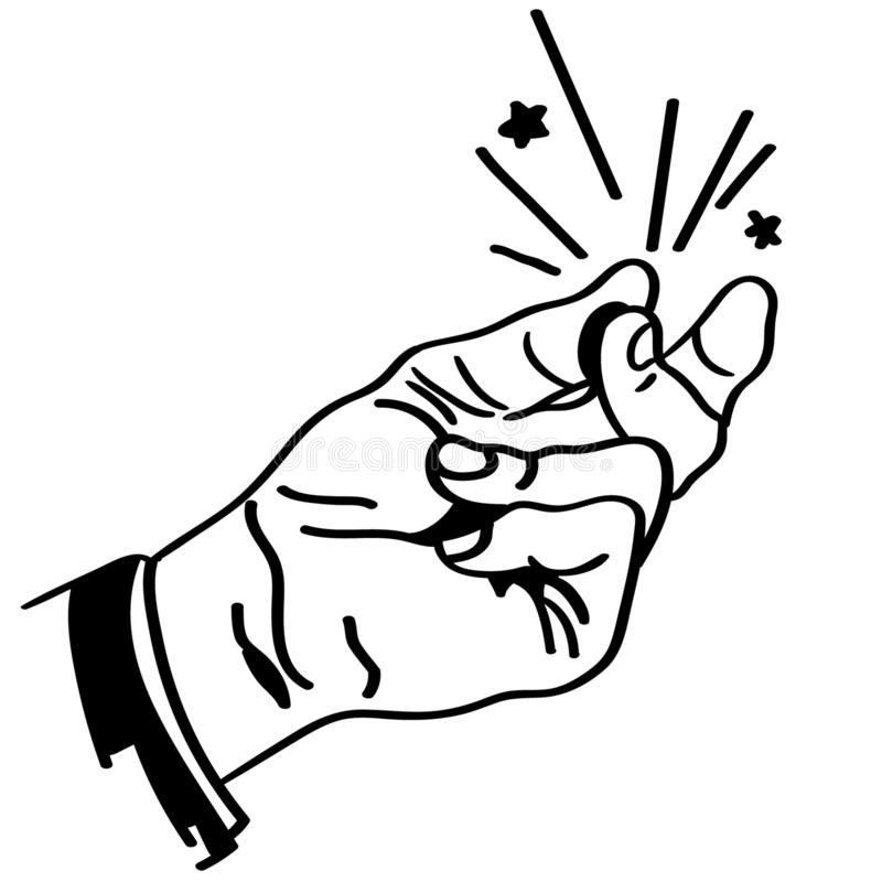 Finger Snap Stock Illustrations.