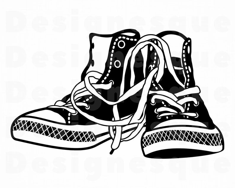 Sneakers SVG, Shoes Svg, Sneakers Clipart, Sneakers Files for Cricut,  Sneakers Cut Files For Silhouette, Sneakers Dxf, Png, Eps, Vector.