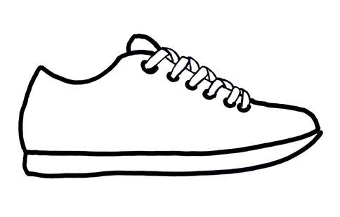 Sneaker shoe sole outline clip art.