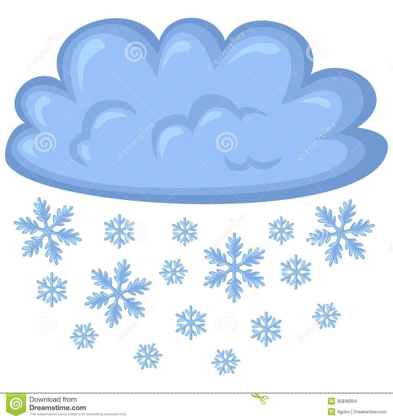 Clip Art Snow Cloud.