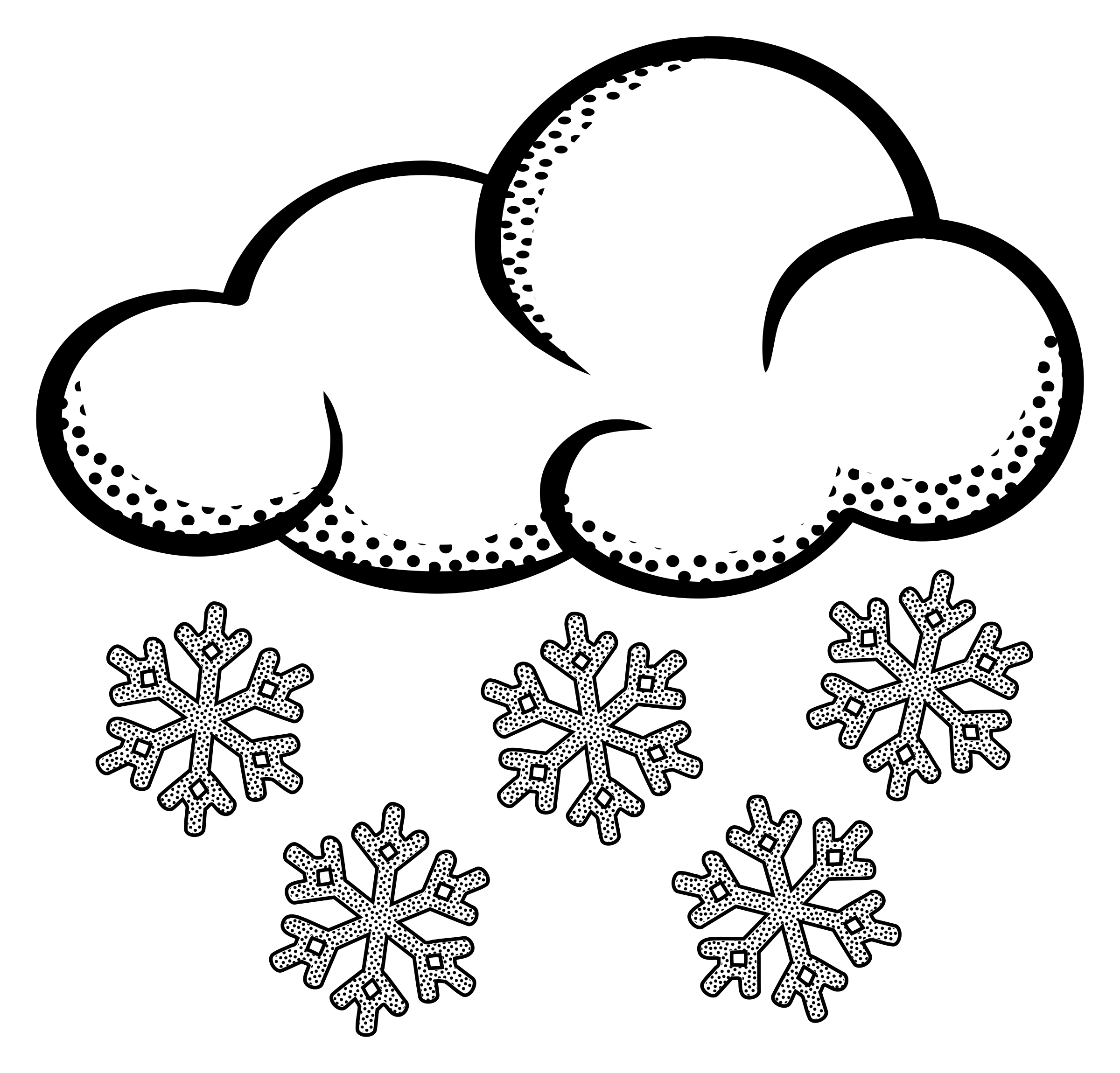Snow cloud clipart 2.