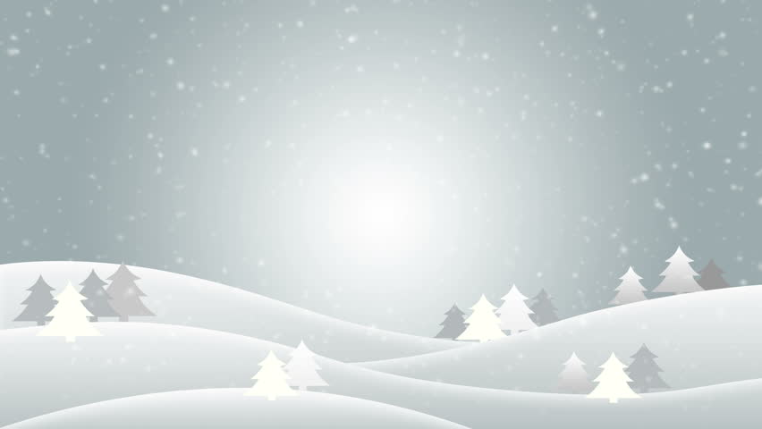 Falling Snow in a Winter Stock Footage Video (100% Royalty.