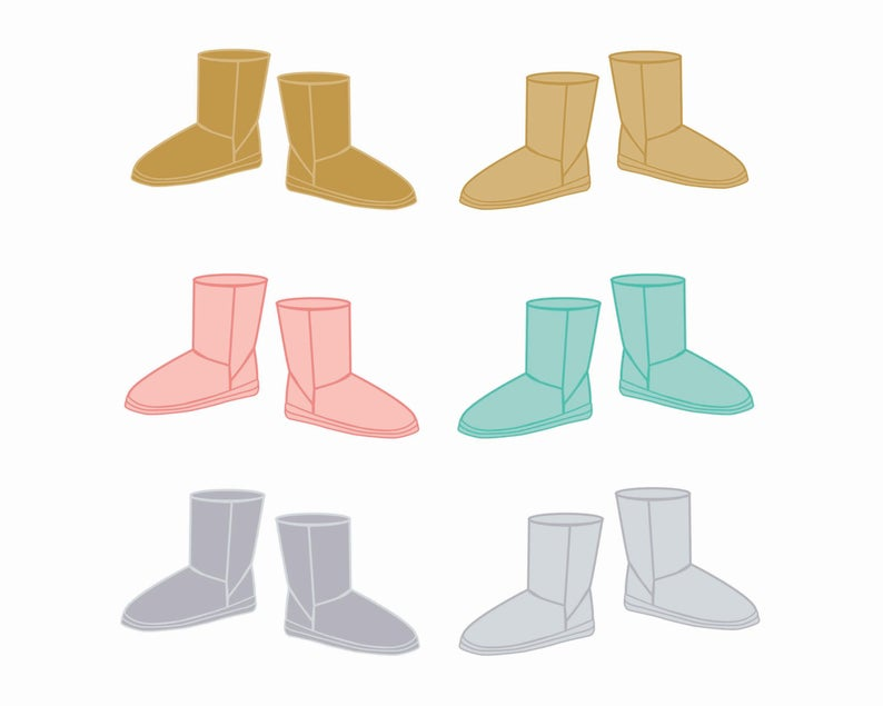 60% OFF SALE Clipart Shoe Clip art Winter Boots Clothes Clipart Clipart for  Winter Scrapbooking.