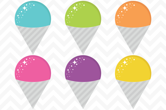 Check out Clip Art Vector Snow Cones by SonyaDeHart on Creative.