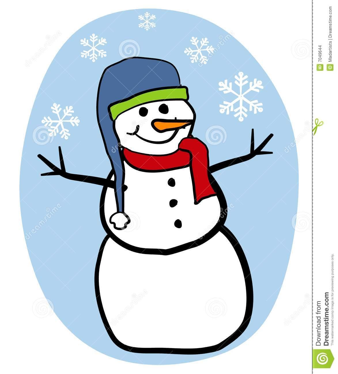 Snowman Clip Art stock illustration. Illustration of cartoon.