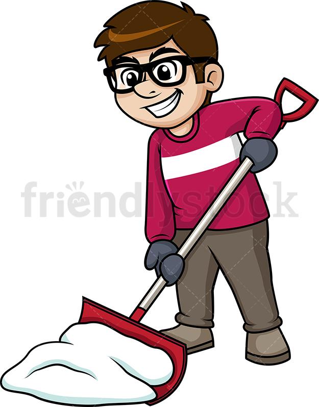 Man Shoveling Snow.