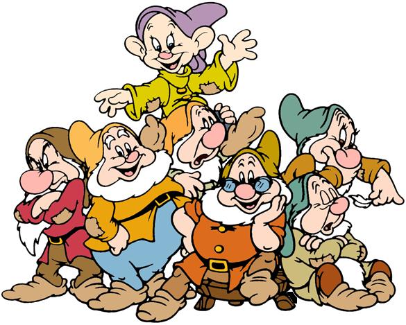 The Seven Dwarfs Clip Art.