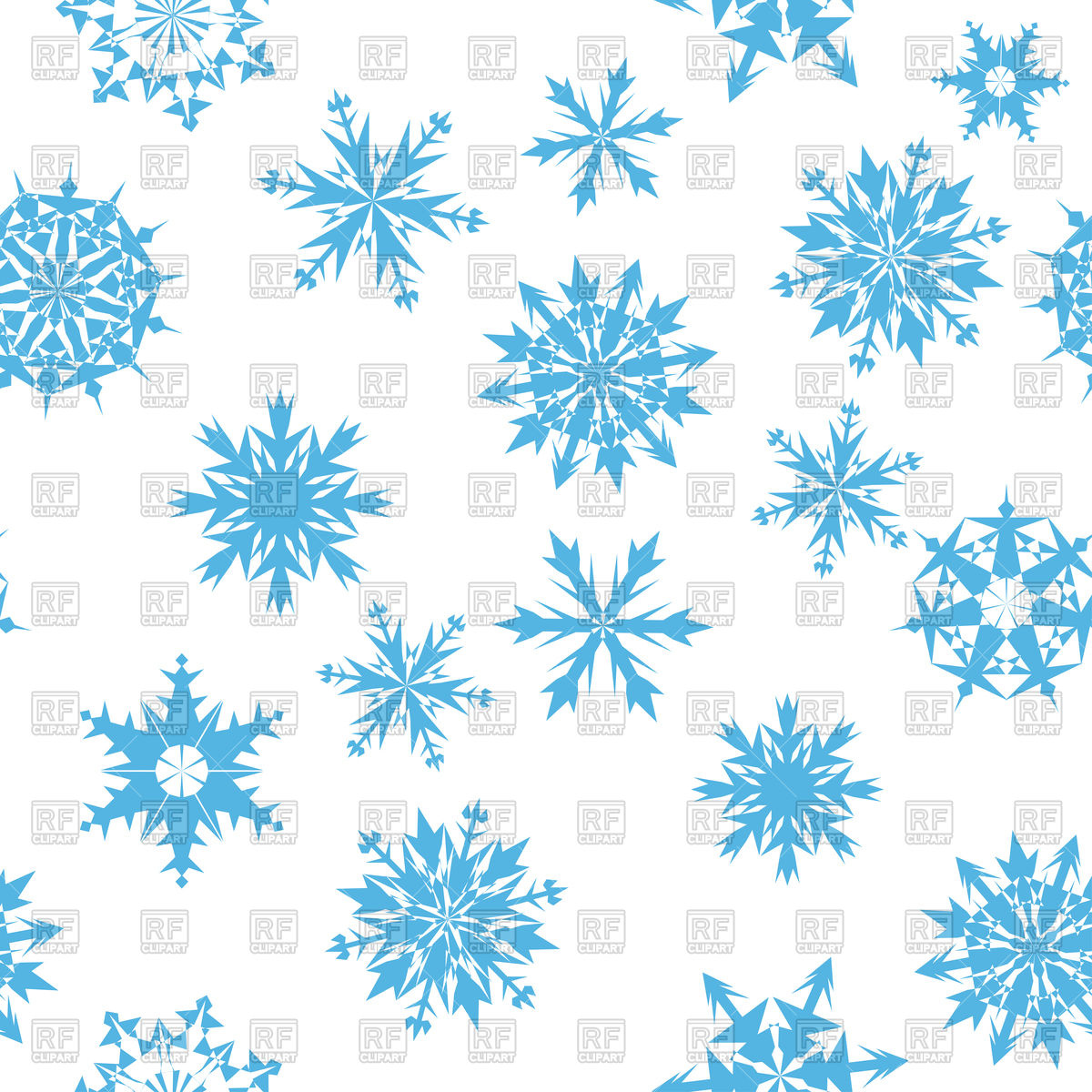 Seamless blue snowflakes background Stock Vector Image.