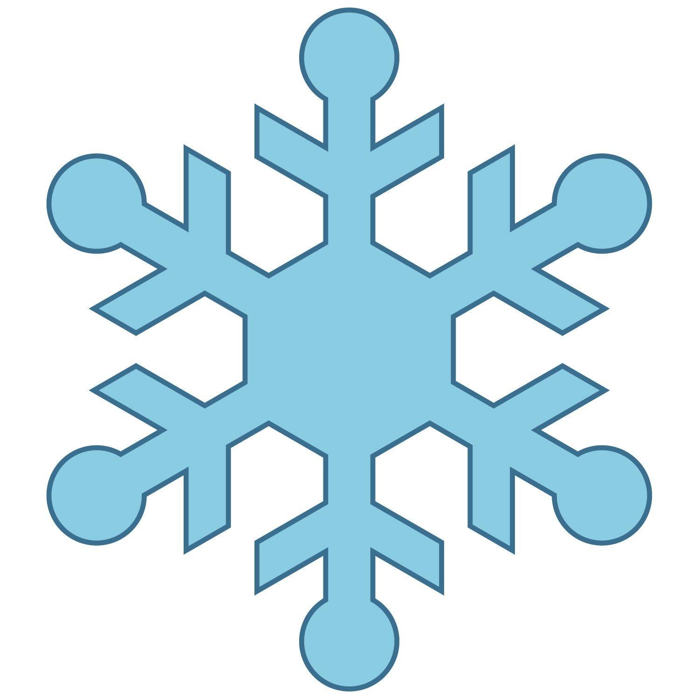 Simple Snowflakes Clipart Simple snowflakes clipart.