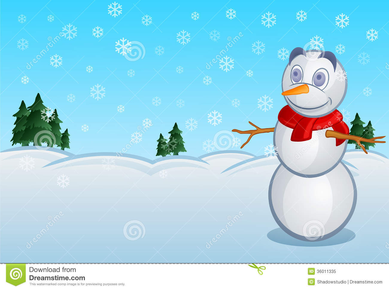 Snowy day clipart 5 » Clipart Station.