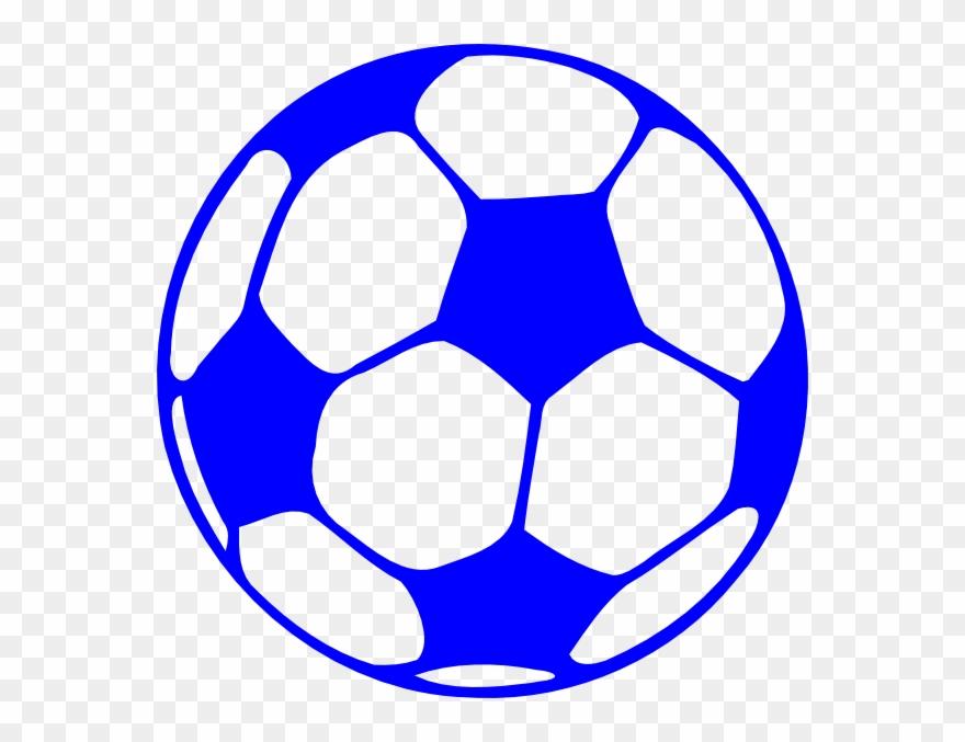 Blue Soccer Ball Clip Art.
