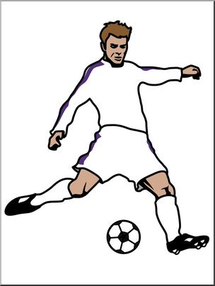 Clip Art: Soccer Player 02 Color I abcteach.com.