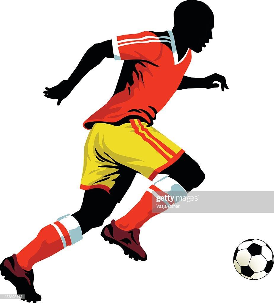 30 Top Midfielder Soccer Player Stock Illustrations, Clip art.