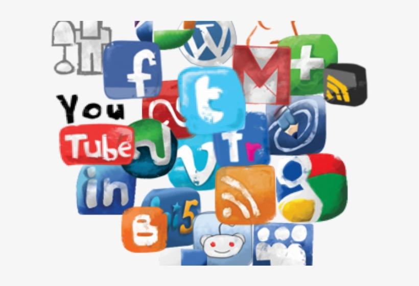 Social Media Icons Clipart Millennial Generation.