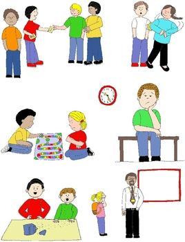 Kids in Action: Social Skills and Pragmatic Language Visuals 2 Clip Art 50  PNGs.