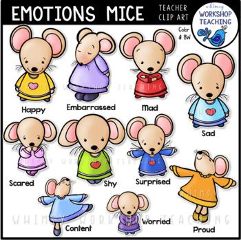 Emotions Mice Clip Art for Social Skills.