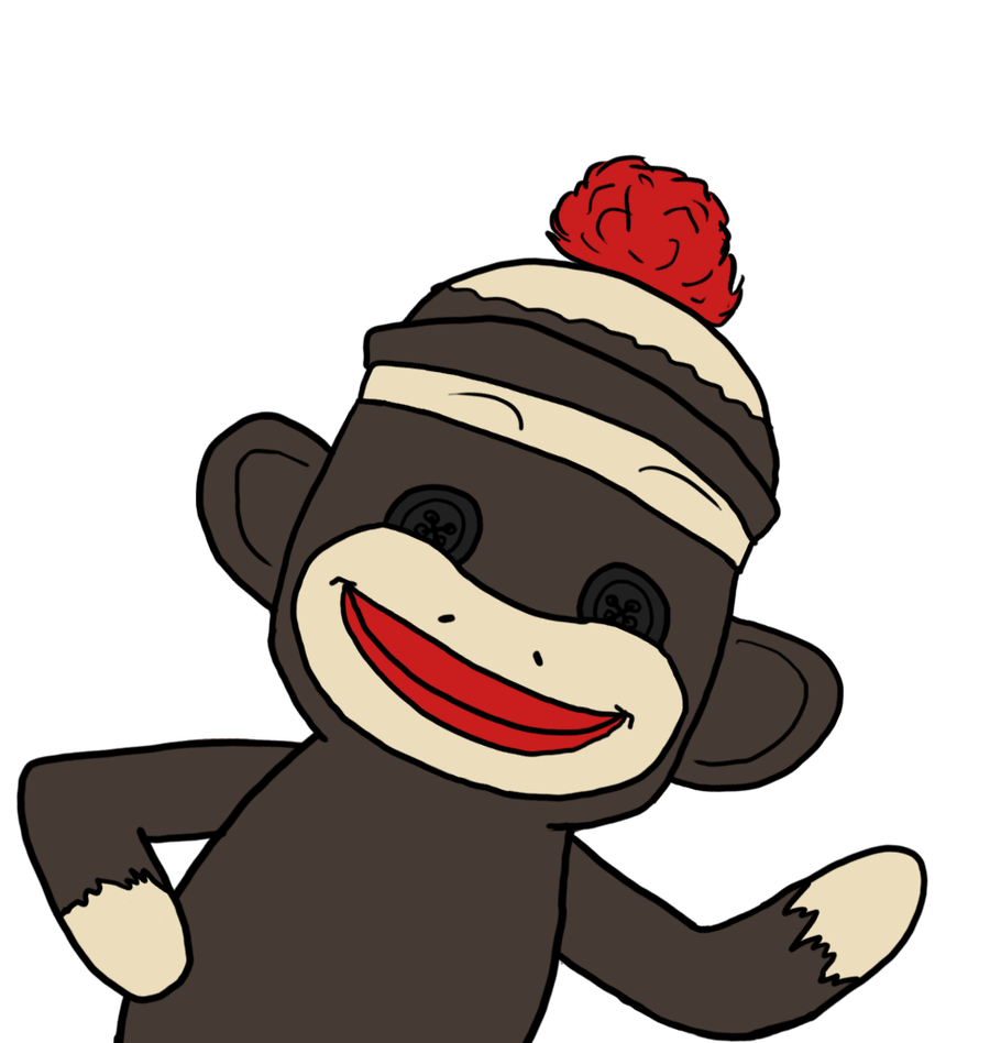 free sock monkey clip art.