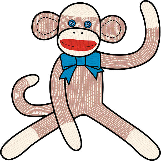 Sock Monkey Illustrations, Royalty.